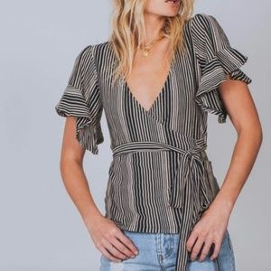 NWT FREE PEOPLE Wrapped Around My Finger Wrap Top
